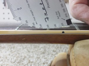 Action Gauge 6 fret height